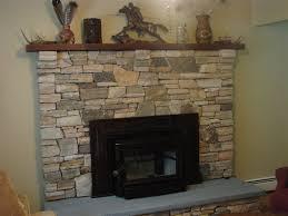 stone veneer fireplace wall