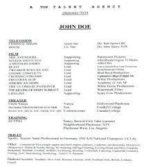 Theatre Resume Templates Interesting How To Write An Acting Resume How To Make A Theatre Resume How To