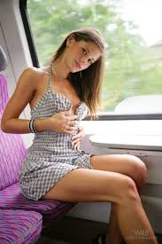 Caprice nude in the train