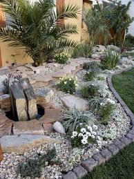 rock garden front yard landscaping