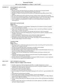 Lab Manager Resume Samples Velvet Jobs