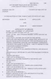 Affidavit of Means 001