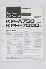 pioneer kp pioneer kp a750 kph 7000 original service manual guide wiring diagram
