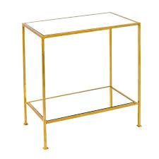 worlds away 2 tier gold leafed side table lane