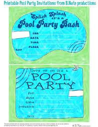 bnute productions printable pool party invitations printable pool party invitations from b nute productions