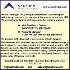Accounts Manager Job In Bengaluru Finance Accounting