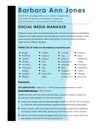 New Media Specialist Sample Resume Delectable Social Media Manager Template Social Media Manager Template Social