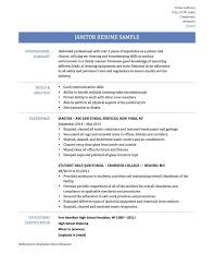 Amazing Another Word For Janitor On Resume Photos - Simple resume .