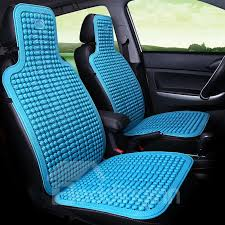 18 cool ice bead pure color front single seat universal car seat cover