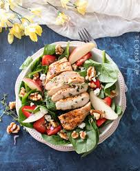 grilled chicken salad with strawberries. Exellent Grilled Grilled Chicken Strawberry Spinach Salad  This Strawberry Spinach Salad Is  Full Of Walnuts Fruits Intended With Strawberries A