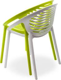 klint stackable armchair in polypropylene for outdoors