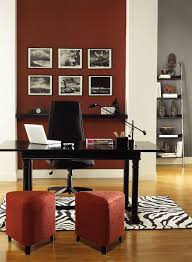 Resplendently Red Home Office   Hot Apple Spice 2005 20 (accent Wall), Gray  Shower 2125 30 (back Wall), Dove Wing OC 18 (trim U0026 Columns)