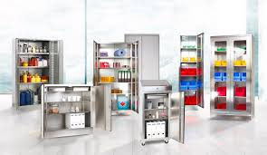 stainless steel cabinet with 4 shelves w 1000 d 400 h 1950 mm