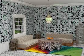 Moroccan Living Room 3d Modern Moroccan Living Room On Behance