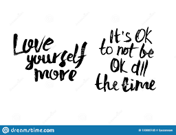 Vector Quote Its Ok To Not Be Ok All The Time Stock Vector