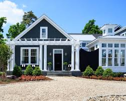 white front door blue house. Blue House White Trim Exterior Traditional With Awning Pergolas Front Door P