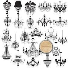 chandelier silhouette clip art black chandelier by retrowalldecor