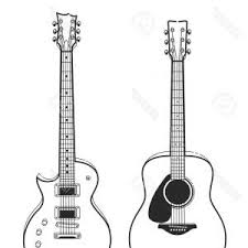 Electric Rock Guitar Bass Guitar And Acoustic Guitar Vector