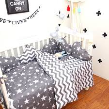 stars baby bedding sets cotton classic gray stripes stars baby bedding set twill baby bed set stars baby bedding