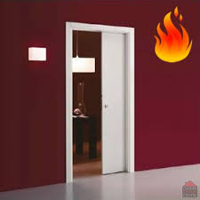 more views eclisse single fire rated sliding door