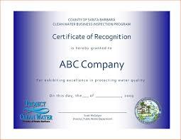 Certificate Recognition Certificates Popular Certificate Of Recognition Template