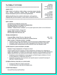 Sample Resume For On Campus Job Current College Student Resume Is Designed For Fresh Graduate 12