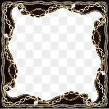 black and gold frame png.  Png Black Gold Chain Border Chain Clipart Gold Chain Black Border PNG Image  And With And Frame Png E