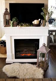 mantel decor under tv fireplace with decorating ideas n79 decorating