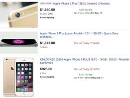 iphone on ebay. some ebay sellers are charging more than $1,000 for the iphone 6 plusebay (screenshot) iphone on ebay