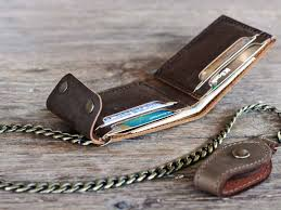high quality leather chic chain wallet chain wallets aab