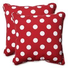 amazoncom pillow perfect decorative redwhite polka dot toss
