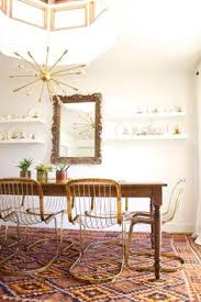 beautiful br cidue vicenca cantilever chairs kilim rug and farmhouse table inspiring es the dining room
