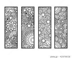 塗り絵 花 ベクトル パターンのイラスト素材 Pixta