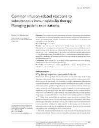 Hizentra Dosing Chart Pdf Common Infusion Related Reactions To Subcutaneous