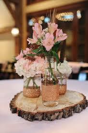 Pink alstroemeria centerpieces