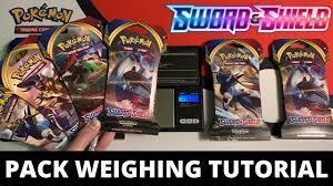 Pokemon Sword and Shield Pack Weighing Tutorial - Walmart Packs - YouTube