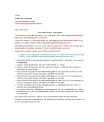 termination letter template 35 perfect termination letter samples lease employee contract