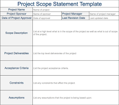 Project Scope Statement - Expert Program Management