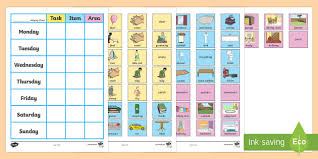 Editable Chore Chart For Adults Free Chore Chart For Home Chore Chart For Home Chore