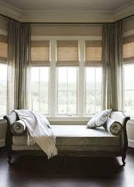 Decorations:Bay Windows Design With Small Curtain Decor Fine Grey Bay Window  Seating Design Inspiration