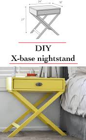 diy nightstand idea how to build an x base accent table or nightstand with