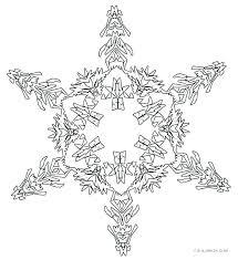 Snowflake Mandala Coloring Pages Free Page Printable Fo