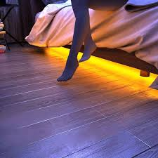 Led Ankle Lights Us 14 87 40 Off Unibrother Under Bed Light Dimmable Motion Activated 5ft Led Induction Strip Bedroom Night Light Amber For Baby Crib Bedside In