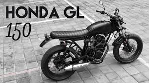 honda gl150 street tracker cafe racer youtube