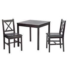 Amazoncom Bestmassage Dining Kitchen Table Dining Set Wood 3