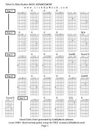 lick by neck learn solo chord melody fingerstyle guitar  chord grids chart of chord melody fingerstyle guitar song ticket to ride beatles