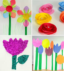 Flower Paper Craft How To Make Paper Flowers For Kids