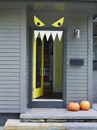 Front Door Decorating Welcome Halloween With Fun Diy Front Door Decorations
