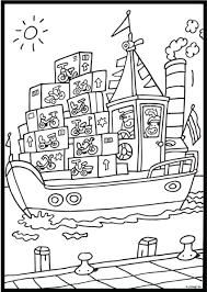 De Pakjesboot Coloring Pages