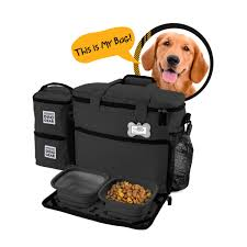 OVERLAND DOG GEAR WEEK AWAY BAG FOR MEDIUM AND LARGE DOGS WITH 2 FOOD  CARRIERS,